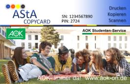 Bild einer AStA Copycard